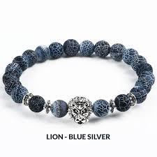 silver beaded charm bracelet images Natural stone bead charm bracelet owl leopard lion designs a jpg