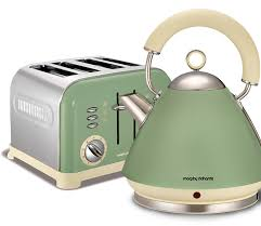 Delonghi Vintage Cream Toaster Morphy Richards Accents Kettle And Toaster Set Sage Green