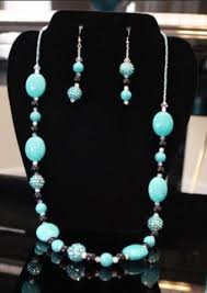 turquoise necklace earring set images Paparazzi turquoise black necklace earrings set complement jpg