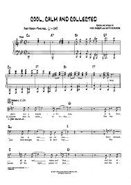 calm cool collected cool calm and collected sheet music for piano and more