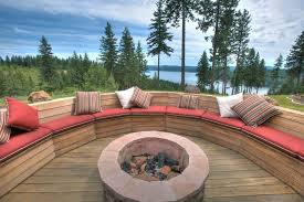 Brick Fire Pits by Contemporary Deck With Brick Fire Pit U0026 Outdoor Seating Zillow