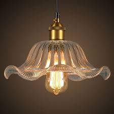 Flower Pendant Light Winsoon Modern Vintage Industrial Hanging Glass Ceiling L