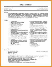Veterinary Resume Templates Ophthalmic Technician Resume Sample Bio Letter Format