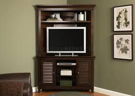Furniture Design For Tv Corner Amaretto Finish Stylish Corner Entertainment Unit
