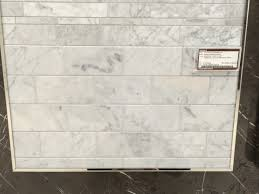 Carrara Marble Subway Tile Kitchen Backsplash by Bianco Carrara Marble Tile From Olympia Tile Possible Kitchen