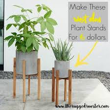 White Pedestal Flower Stand West Elm Inspired Diy Plant Stands Diy Plant Stand Plants And