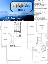 Mountain View Floor Plans by Baldwin Park Homes Llc Plan 2 Lot 50