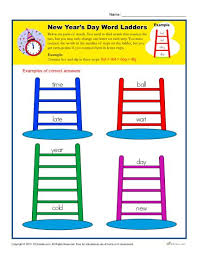 new year u0027s day word ladders printable holiday activity