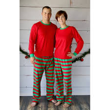 unisex and green striped pajamas