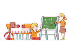 kids are learning math stock vector image 60851377