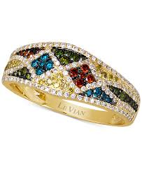color diamond rings images Lyst le vian exotics multi color diamond ring 5 8 ct t w in jpeg