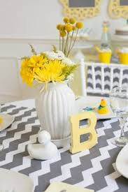 Yellow Duck Baby Shower Decorations A Modern Duck Baby Shower Chevron Baby Showers Duck Baby