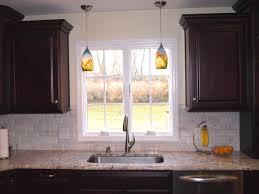 over sink lighting double pendant lights over sink traditional kitchen newark intended