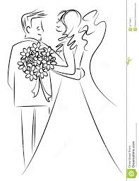 just married couple cartoon stock photos image 30779853