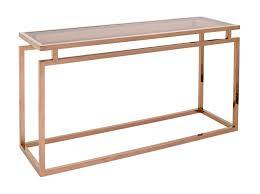 rose gold console table austin console table rose gold finish