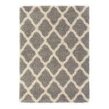 world rug gallery cozy moroccan trellis gray cream 5 ft 3 in x 7