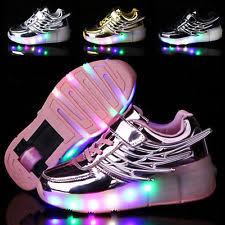 heelys light up shoes boys wheel shoes ebay
