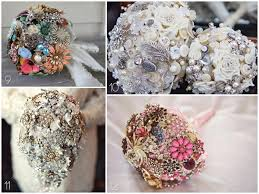 vintage bouquets 20 vintage brooch wedding bouquets blissfully domestic