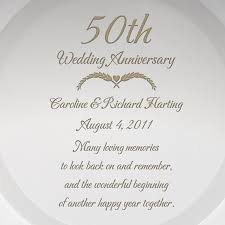 50th anniversary plate engraved engraved 50th wedding anniversary glass plate with gold 50th