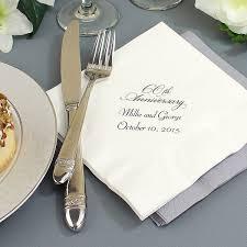 60th anniversary decorations custom printed 60th wedding anniversary luncheon napkins set of