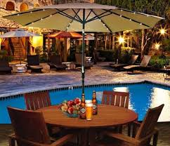 Patio Umbrellas With Led Lights Patio Umbrella Lights Battery Operated Furniture