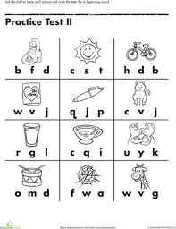 beginning letter sounds worksheet education com