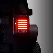 jeep jk led tail light bulb genssi black led tail lights for jeep jk 2007 2016 genssi led