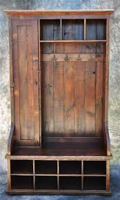 mudroom organizer reclaimed wood mudroom organizer with door 48