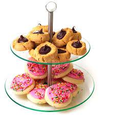 2 tier round glass buffet and dessert stand walmart com