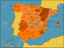 Map Of Spain by Detailed Vector Map Of Spain Royalty Free Cliparts Vectors And