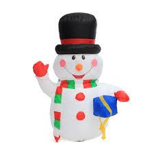 large santa snowman outdoor airblown