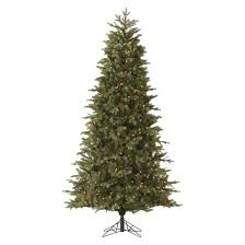 7 5 pre lit artificial tree mountain fir slim clear
