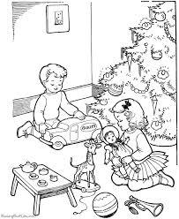 printable christmas color santa