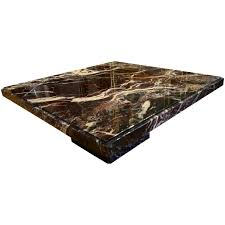 black marble effect coffee table round nest of 3 marble side