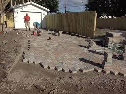 Basket Weave Brick Patio by Brick Pavers Driveway Pavers Flagstone Pavers 4 Dynamite Fence