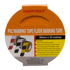 Floor Tape by Highpower 50mm X 33 Meter Floor Boundary Safety Caution Warning