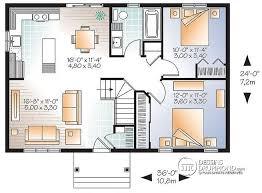 plan maison cuisine ouverte w3137 modèle économique de style moderne rustique 2 chambres