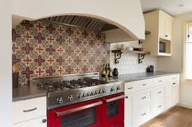 Hand Painted Tiles For Kitchen Backsplash On Location Residential With Fireclay Tile Gina B Photography