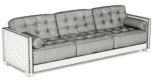sofa canapé flexform le canape 3d cgtrader