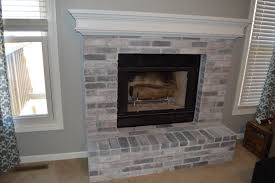 how to whitewash brick our fireplace makeover loving here finished