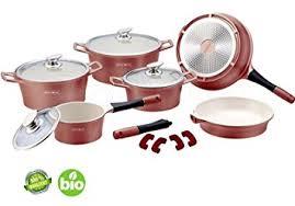 batterie de cuisine ceramique batterie de cuisine en céramique set de 14 pièces cuivré bronze