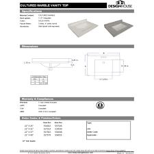 design house dnh 557546 universal moonscape grey vanity tops