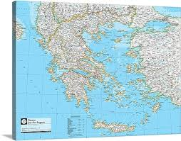 greece map political ngs atlas of the world 8th ed political map of greece and the