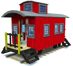 caboose playhouse plan wooden train playhouses and playhouse ideas