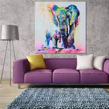 elephant canvas oil painting