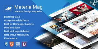 materialmag material design responsive template by crunchpress