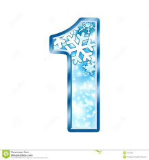 winter alphabet number 1 one royalty free stock image image 7037916