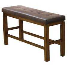 Oak Storage Bench Morrison Counter Height Storage Bench Wood Oak Acme Target