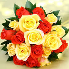 orange roses beautiful royal bridesmaids bouquets with yellow and orange