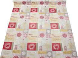 christmas pvc oilcloth vinyl fabric xmas kitchen table wipeclean